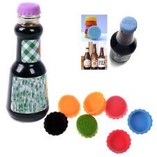 6Pcs Lovely Beer Bottle Silicon Caps Saver Cover Reusable Stopper Lid Random DRP