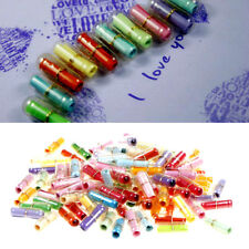 100X Message in a Bottle Capsule Letter Love Friendship Clear Pill for Gifts FO