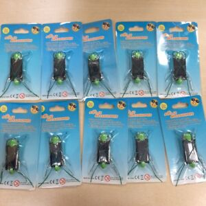 Set of 10 CLEARANCE Eco-Friendly Green Solar Bugs/Stocking Filler/Christmas