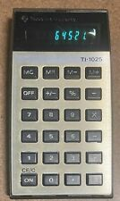 Vintage Texas Instruments Ti-1025 Electronic Calculator Green Digits Working