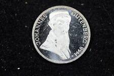 New listing 1968 - G Germany 5 Mark Silver Coin Johannes Gutenburg! #H18173