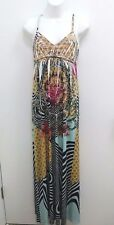 Gavriel Womens Petite Dress Small Maxi Sublimation Floral Geo Empire Waist  B288