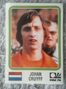 Panini Soccer sticker card # 89 johan cruyff munich 74 World Cup Story 1990
