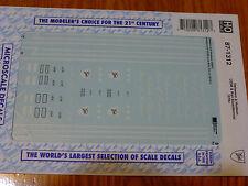 Microscale Decal HO  #87-1312  Delaware & Hudson (D&H) U25B & RS3 Bicentennial 1
