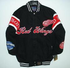 SIZE LG NHL DETROIT RED WINGS HOCKEY TWILL Cotton EMBROIDERED Jacket L