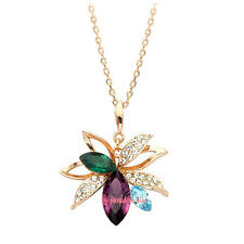 Collana da Donna Cristallo Swarovski Elements Ciondolo Multicolore S33