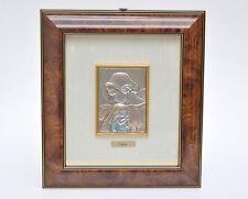 """Valenti, """"Madonna con bambino"""" opera in rilievo su lastra argento 925 e oro"""