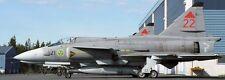 JA-37 Viggen Sweden Air Force Saab Airplane Mahogany Wood Model Large New