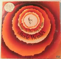 """[J808] STEVIE WONDER SONGS IN THE KEY OF LIFE WITH BOOKLET 2 LP-Motown Vinyl """""""