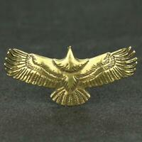 Chinese Brass Eagle Statue Small Pendant Birthday Xmas Gifts Present Pocket Toys
