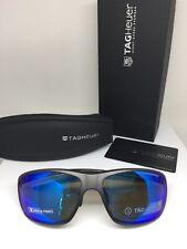 New Tag Heuer Sport Sunglasses TH 6023 C. 104 Grey w/ Polarized Mirrored Lenses