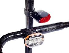 NEW TURA CYCLE SAFETY LIGHT SET - FRONT AND REAR - BIKE BICYCLE MTB ROAD