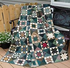 Stars by the Hour Quilt Pattern~NEW EASY FUN~ Pleasant ~scrappy~ 402