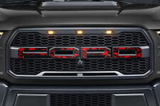 Ford F150 SVT Raptor Grille Insert Graphics Stickers Decals 2015-2018 RED SKULLS