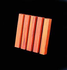 """5 Padauk Pen Blanks, ¾""""x5"""", Craft turning, carving wood"""