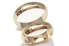 Anillos boda de oro amarillo n. 2 piezas para novias y novios bandas