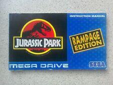 Jurassic Park: Rampage Edition Manual - Sega Mega Drive, NO GAME MANUAL ONLY