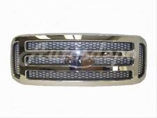 For 05-07 Super Duty F250 F350 F450 F550 Grille Chrome (Gray Honeycomb Insert)