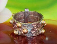 Ring Sterling Silber 925 dreiteilig Band zweifarbig 3 verbundene Ringe