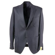 NWT $1525 G.ABO NAPOLI Gray Wool and Cashmere Sport Coat Slim 42 R Gabo