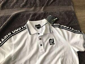 "Roberto Cavalli ""Just Cavalli"" Mens White Cotton  Polo Shirt (M), BNWT"