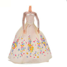 Hot 1 Pc Handmake Beige Wedding Gown Dress For Barbies Cinderella Dolls
