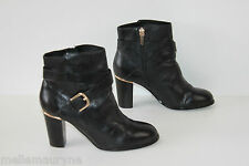 Bottines Boots ANDRE Cuir Noir Doublées Cuir T 37 BE