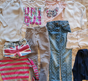 BUNDLE GIRLS CLOTHES - 8-9 Marks & Spencer GAP jeans SHORTS tops TUNIC silver