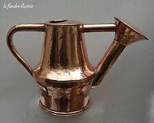 magnifique arrosoir en cuivre 19ème - outil de jardin - garden