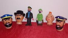 lot tete de marionnette tintin lombard 1972 + 2 poupées