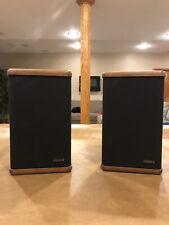 Advent Mini Bookshelf Speakers with Hardwood End Caps