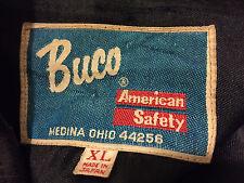 Vintage Buco Cafe Racer Venyl-Lederjacke schwarz XL