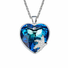 Starfish Love Pendant Made with SWAROVSKI Elements Crystal Adjustable Necklace