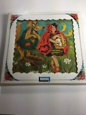 1960'S PEEK AND BOOS LAKESIDE LITTLE RED RIDING HOOD  COLOR BOOK, PUZZLE SEALED