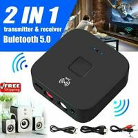 Wireless Bluetooth NFC Receiver 5.0 aptX LL RCA 3.5mm Aux Adapter Audio T1Y5