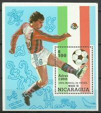Nicaragua Sport Coupe Monde Football FIFA World Soccer Cup Fußball ** 1986 Bloc
