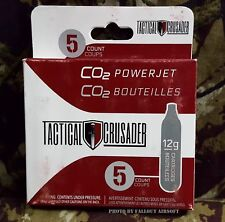 Pack of 5 12g CO2 Cartridges - Tactical Crusader 12 Gram Airsoft Paintball CO2