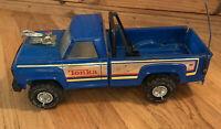 Vintage Tonka 1970's Truck XR 101 Pressed Steel Blue Pick Up Truck Roll Bars