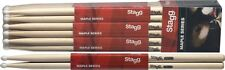One Pair Of New Stagg Maple 5A NylonTip Drum Sticks SM5AN