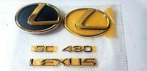 02-05 FITS New Lexus SC430 Emblem 24K GOLD COMPLETE KIT 2002 2003 2004 2005