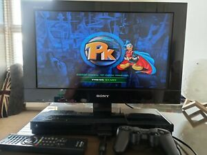 Sony Bravia 22PX300 TV with PlayStation 2 built-in for gaming.