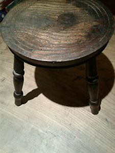 Antique/Vintage Elm Milking Stool