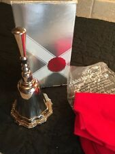 Vintage 1978 Avon Hudson Manor Collection Collectible Silver Plate Hand Bell