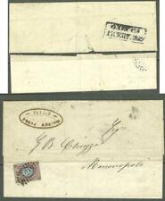 """RUSSIA Odessa cover to ITALY SHIP  """"BOARD ODESSA CANCEL.Rare """"6"""""""" Sc#8,Mi#5 1859"""