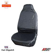1 BLACK WATERPROOF UNIVERSAL HEAVY DUTY FRONT SEAT COVER CAR VAN PROTECTOR MUDDY