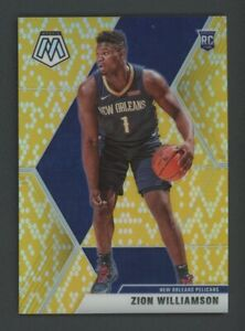 2019-20 PANINI MOSAIC ZION WILLIAMSON #209 JERSEY# RC 1/8 SSP GOLD SNAKESKIN