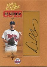 2005 Donruss Leather & Lumber Dave Gassner Autograph 168/256 Twins Boilermakers