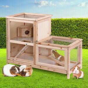 Hutch Rabbit House Chicken Coop Cage Wooden Pet Ferret Chicken Outdoor Bunny Run