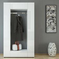 Dielenschrank MATS Weiß Hochglanz - Wandschrank Flurgarderobe Schuhregal Ablage