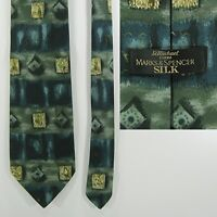 Vintage Pure Silk Neck Tie By St Michael (Marks & Spencer) - Abstract Pattern